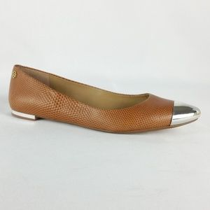 Ann Taylor Brown Leather Ballet Flats S15-12